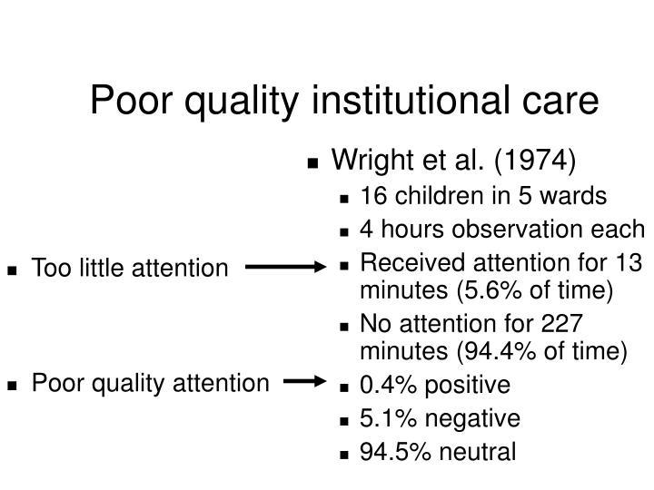 Poor quality institutional care3