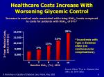 healthcare costs increase with worsening glycemic control