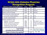 ncqa ada diabetes physician recognition program17