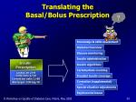 translating the basal bolus prescription