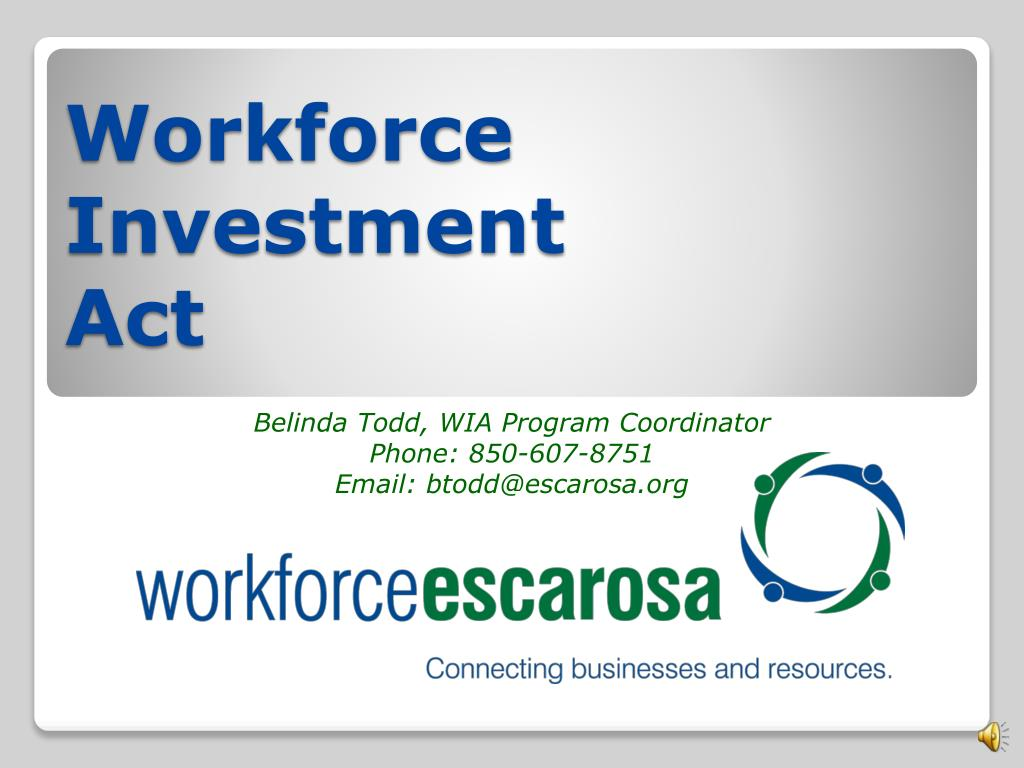 Workforce investment act coordinator pioneer investments rollover accident