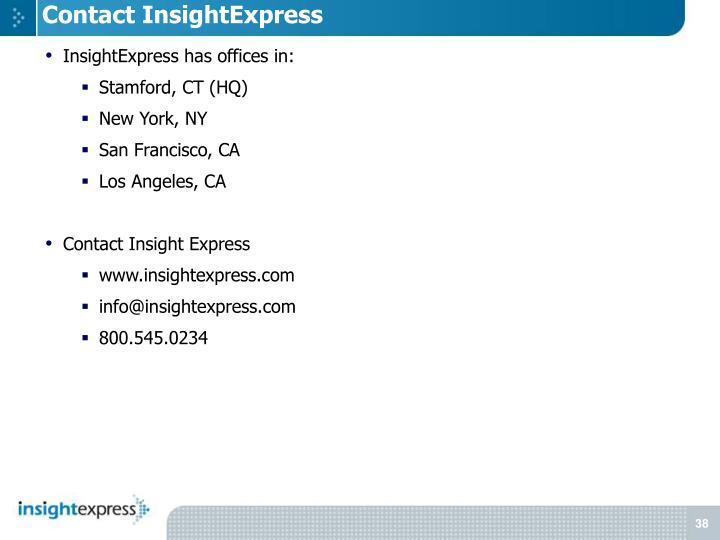 Contact InsightExpress