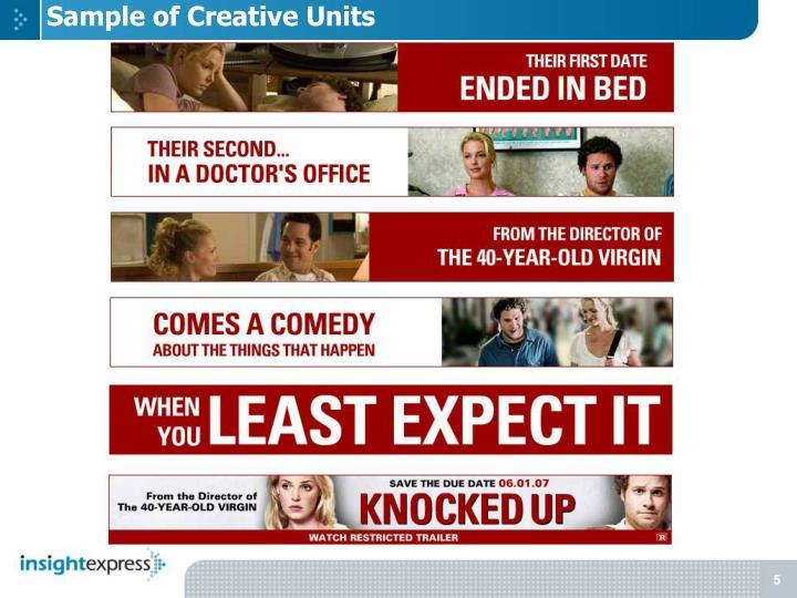 Sample of Creative Units