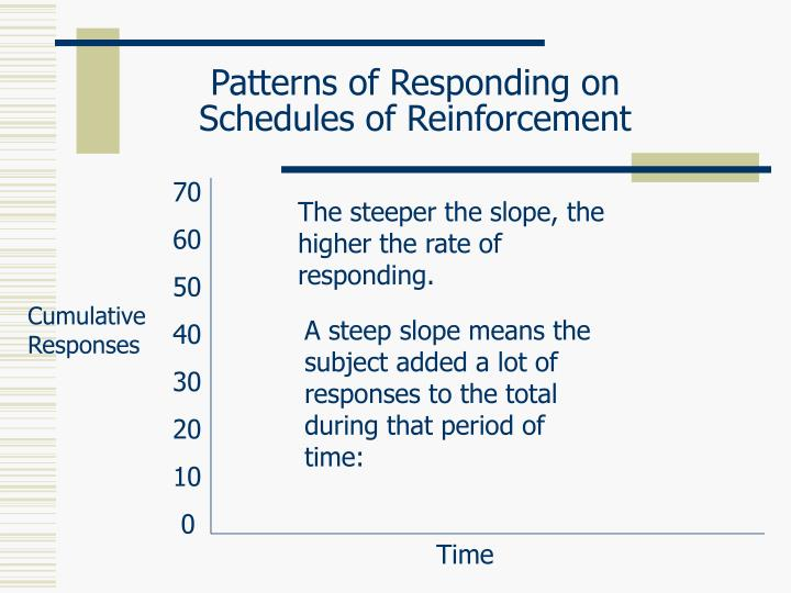 Patterns of responding on schedules of reinforcement3