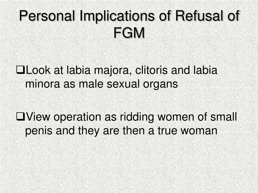 Personal Implications of Refusal of FGM