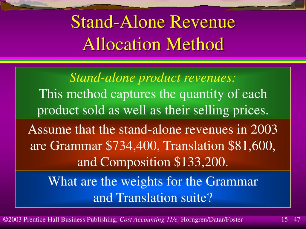 Stand-Alone Revenue