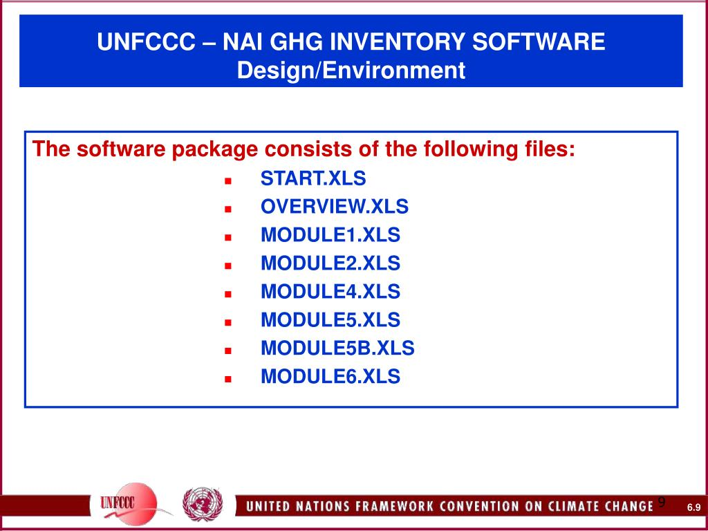 The software package consists of the following files: