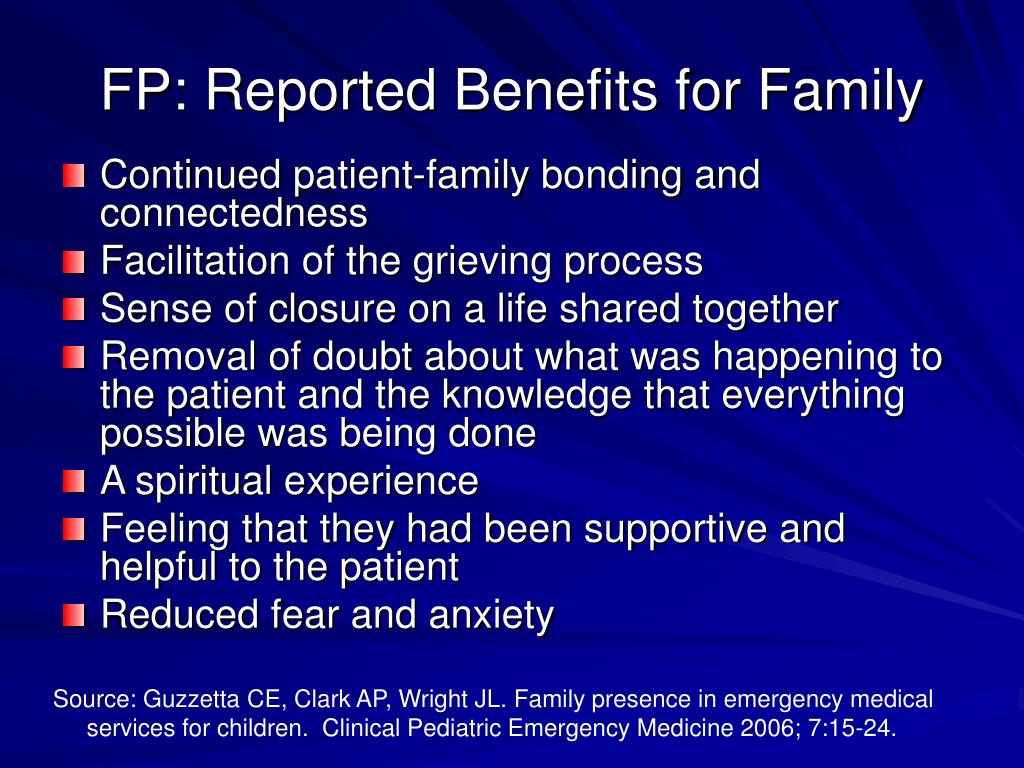 FP: Reported Benefits for Family