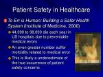 patient safety in healthcare