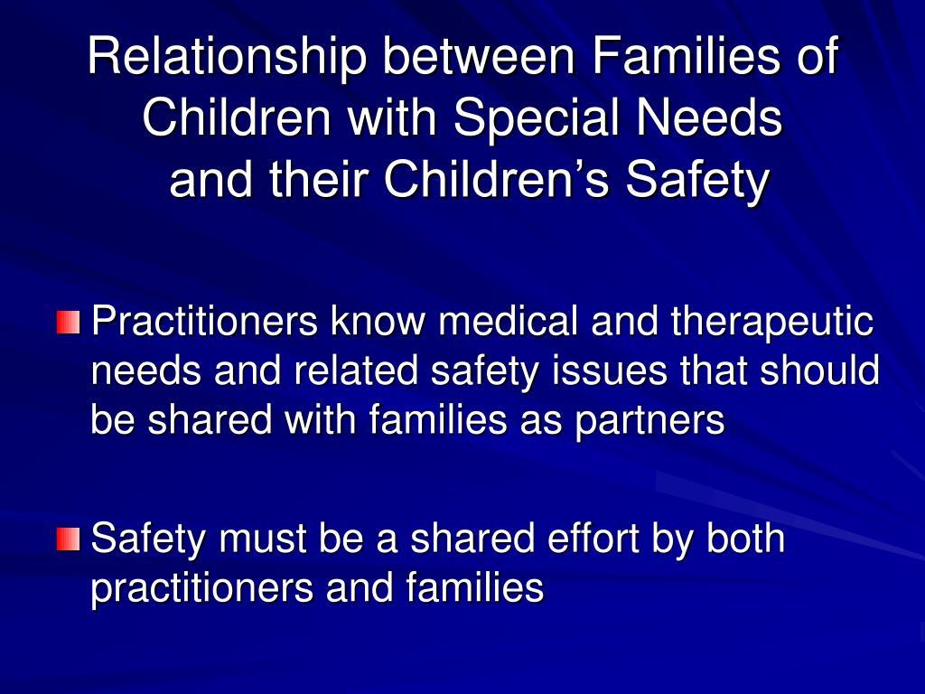 Relationship between Families of Children with Special Needs