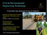 civil environmental engineering technology