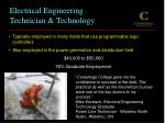 electrical engineering technician technology