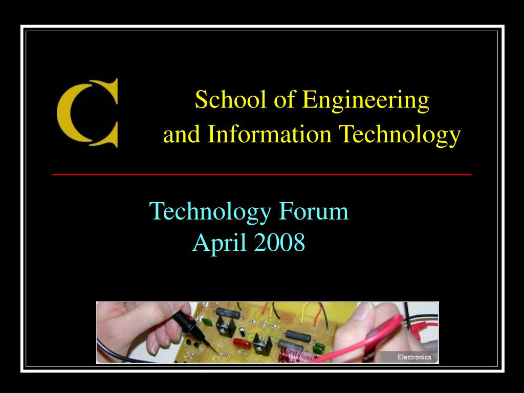 technology forum april 2008 l.