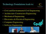 technology foundations leads to