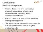 conclusions health care systems