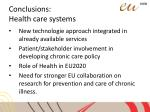 conclusions health care systems11