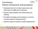 conclusions patient involvement and perception7