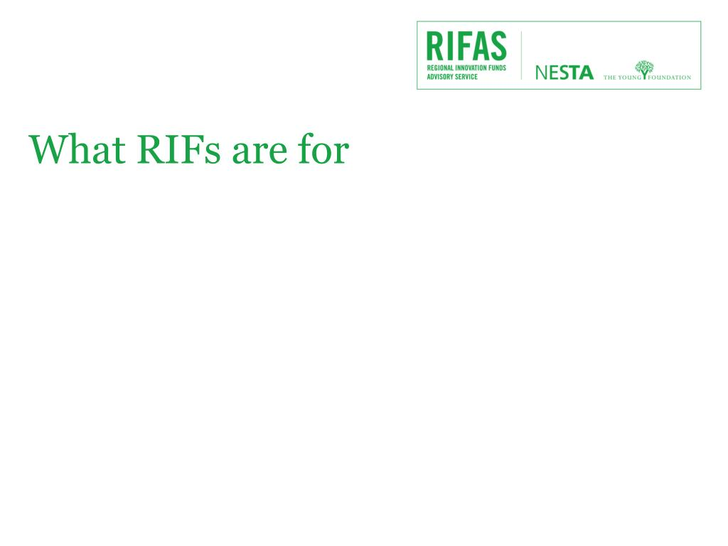 What RIFs are for
