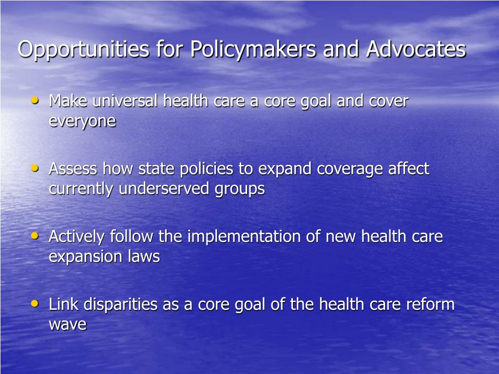 Opportunities for Policymakers and Advocates