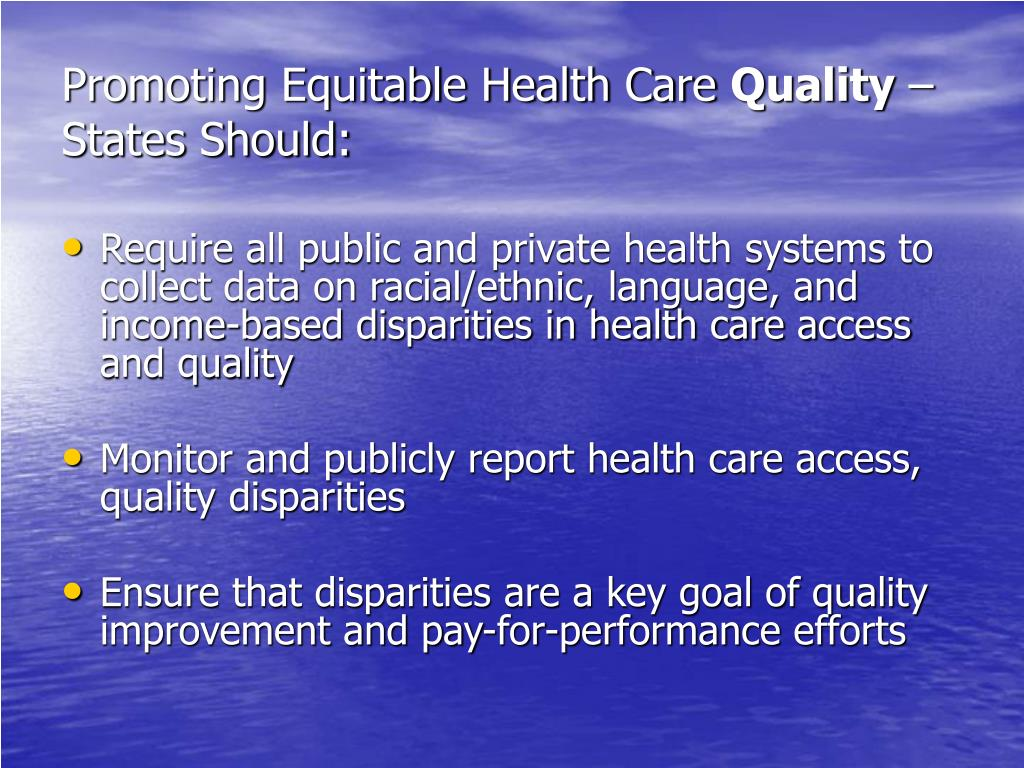 Promoting Equitable Health Care