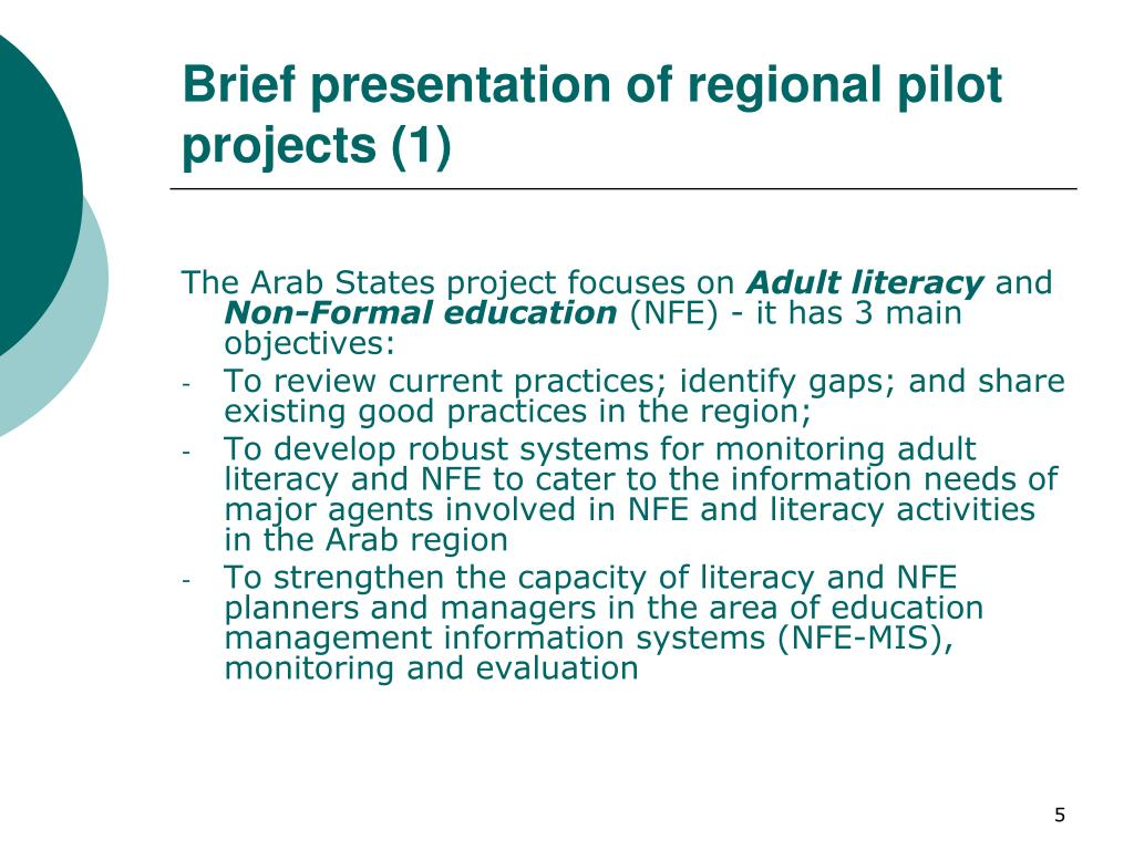 Brief presentation of regional pilot projects (1)