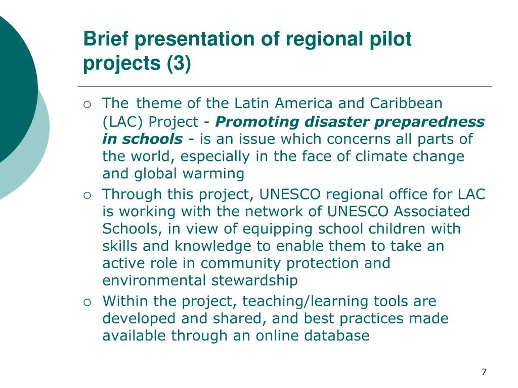 Brief presentation of regional pilot projects (3)