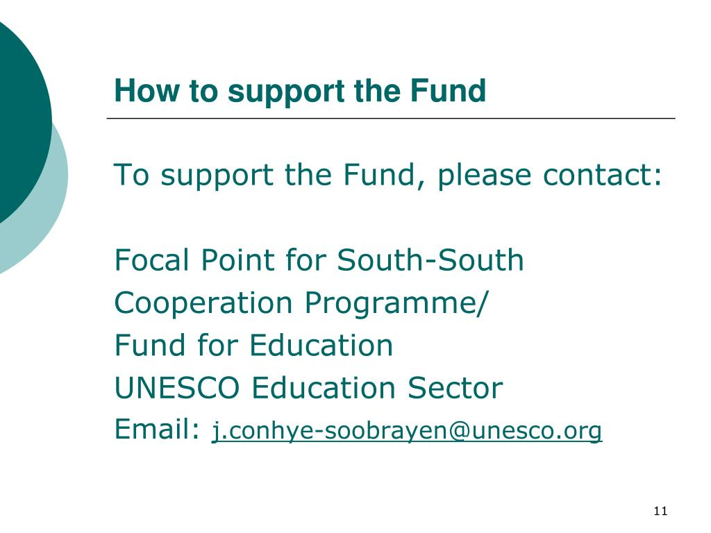 How to support the Fund