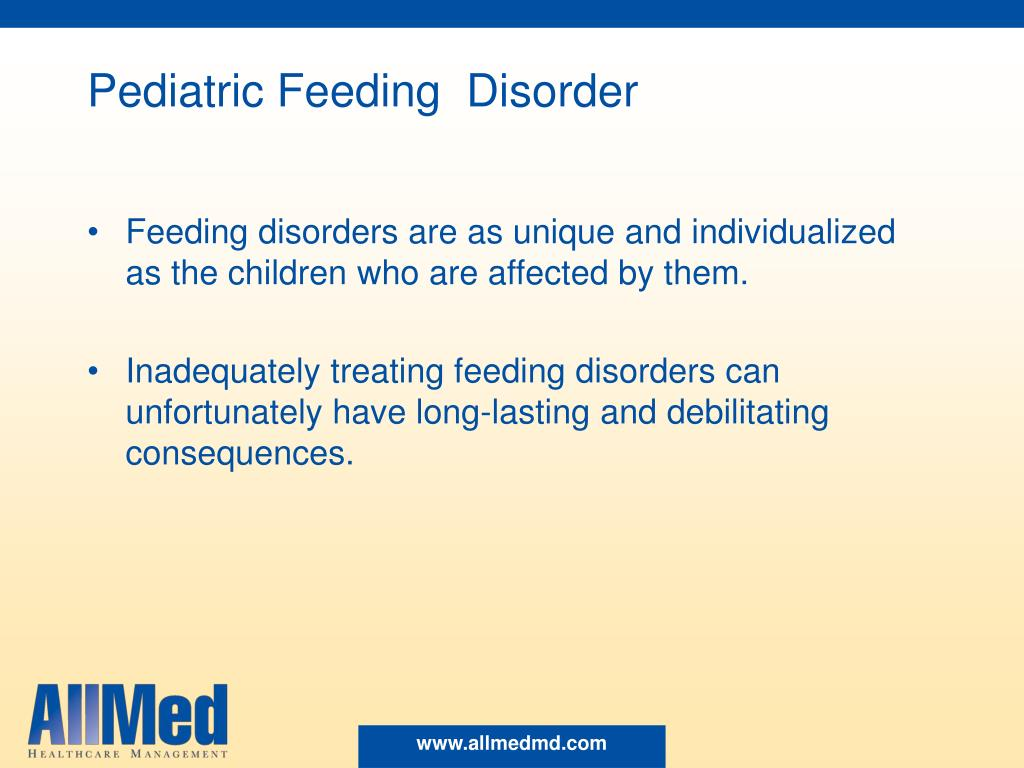 Pediatric Feeding  Disorder