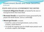 government bonds and debt securities continued22