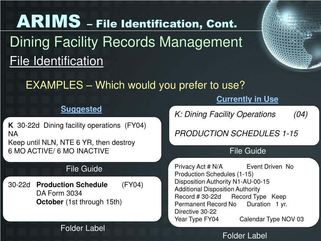 ppt - arims powerpoint presentation