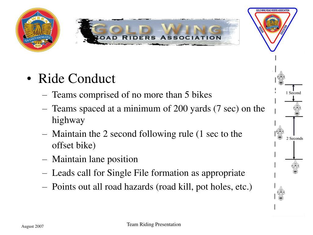 Ride Conduct