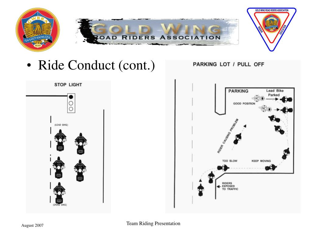 Ride Conduct (cont.)