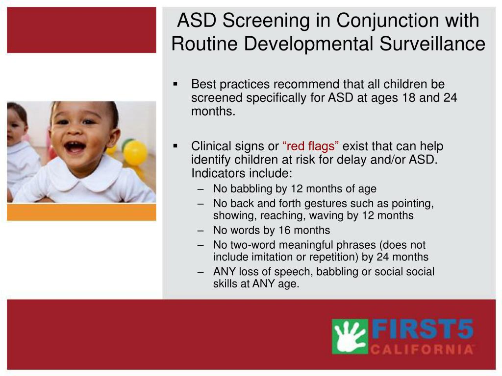 ASD Screening in Conjunction with Routine Developmental Surveillance