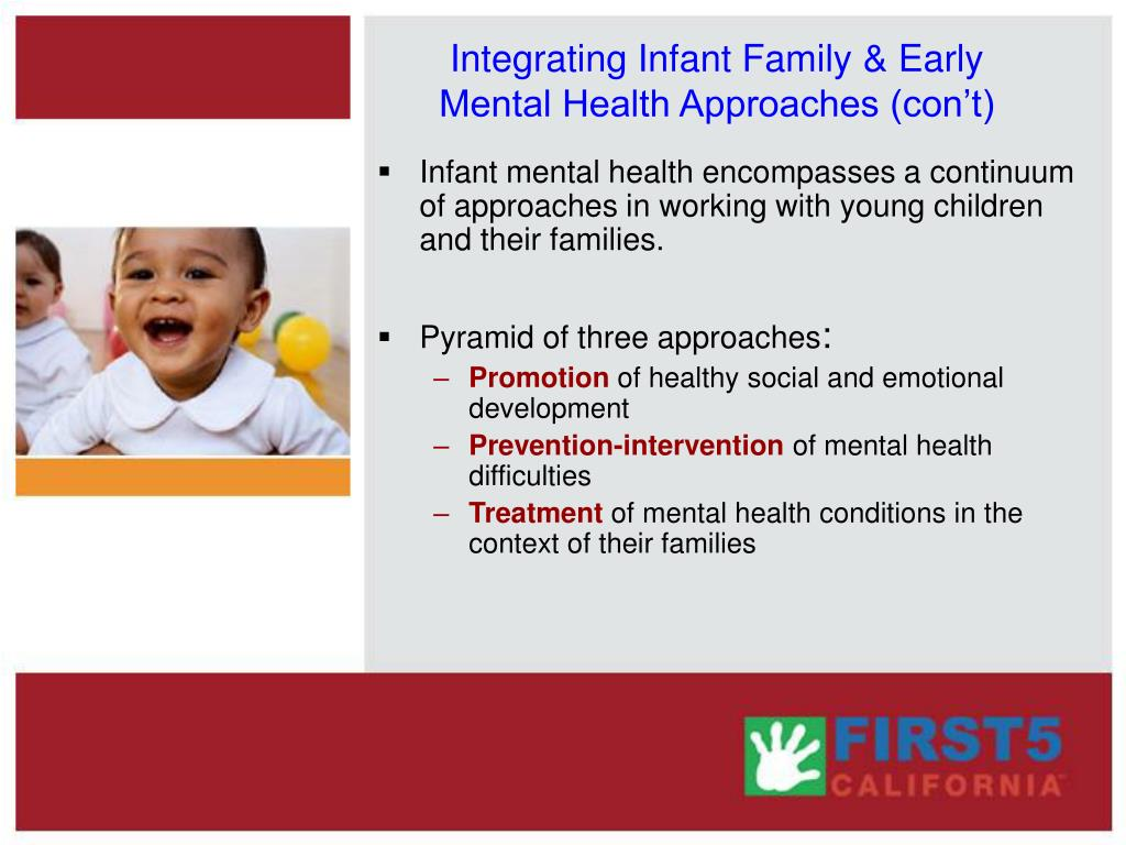 Integrating Infant Family & Early Mental Health Approaches (con't)