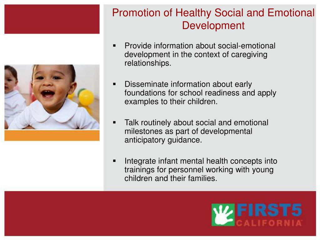 Promotion of Healthy Social and Emotional Development