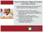 role of california s regional centers and public schools