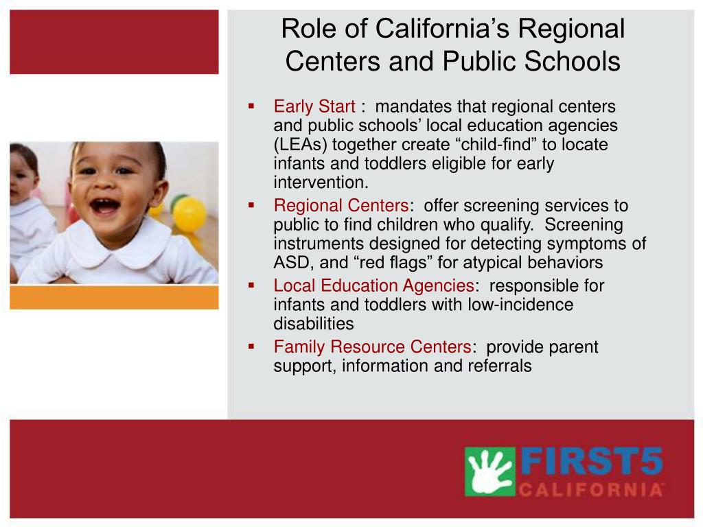 Role of California's Regional Centers and Public Schools