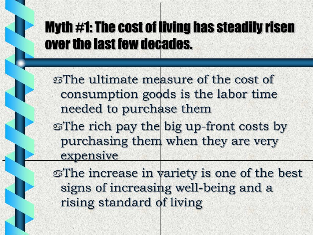 rise in standards of living essay Increase in cost of living economics essay increase in living cost reduces the creates difficulty to an individual from achieving a standard of living.