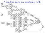 a random path in a random graph