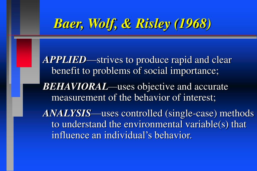Baer, Wolf, & Risley (1968)