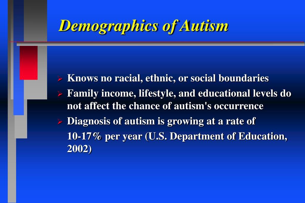 Demographics of Autism