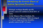 identifying the genetic bases of autism spectrum disorders