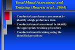 vocal mand assessment and training bourret et al 2004