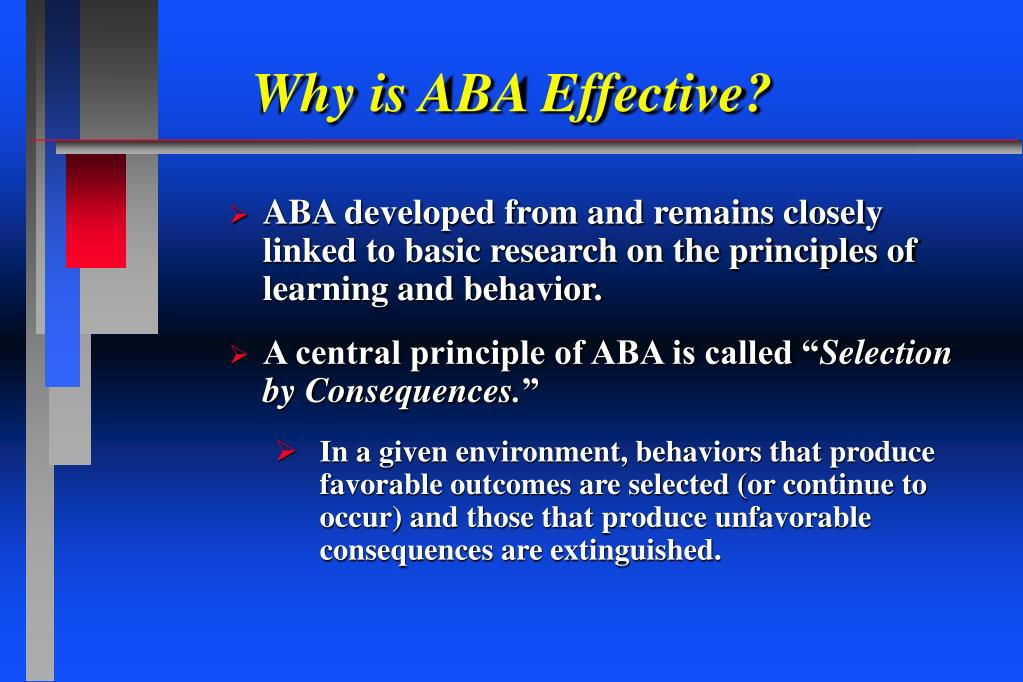 Why is ABA Effective?