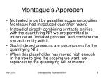 montague s approach