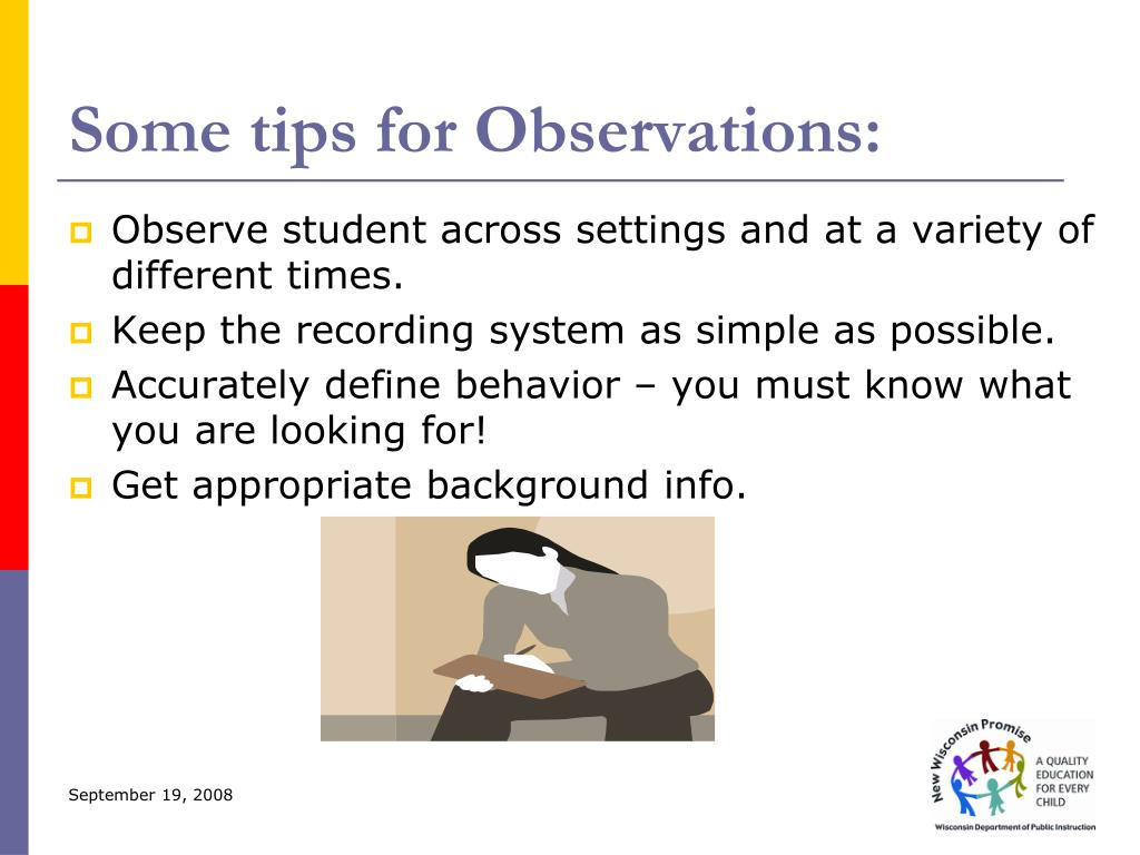 Some tips for Observations: