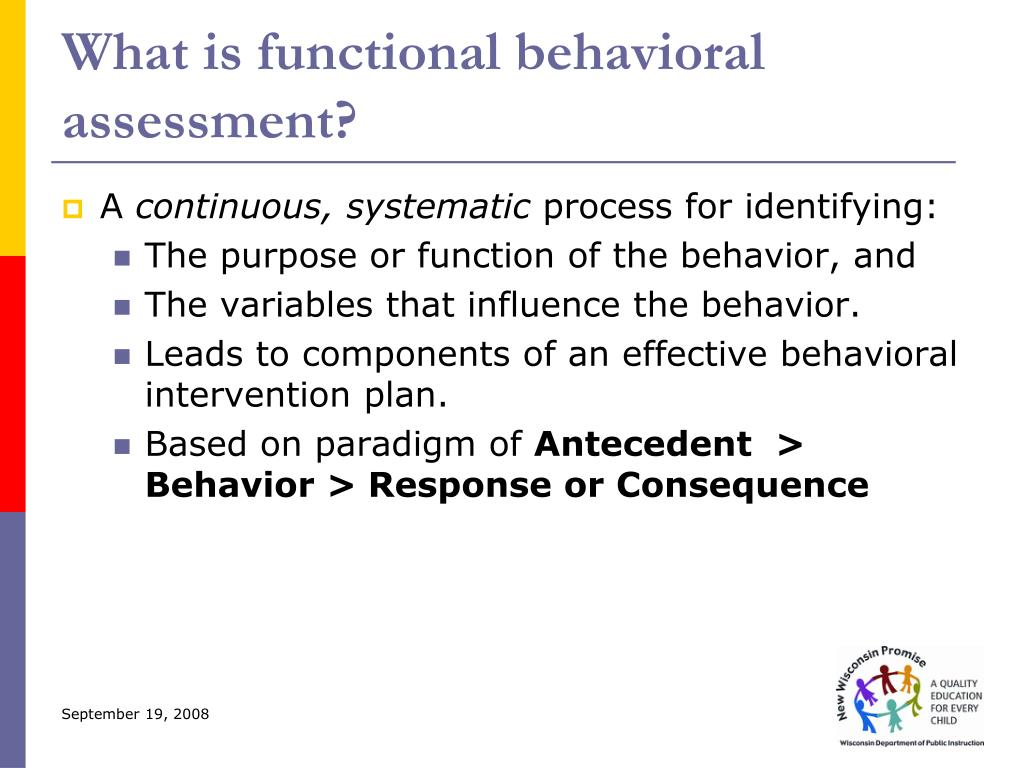 What is functional behavioral assessment?