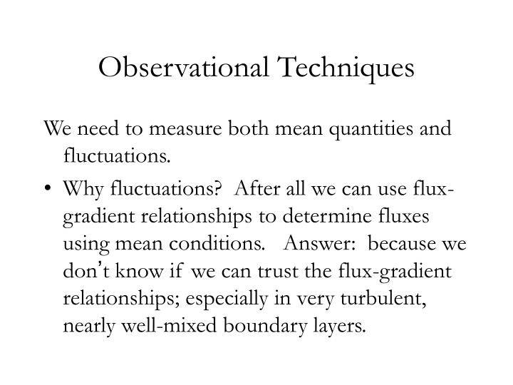 Observational techniques1