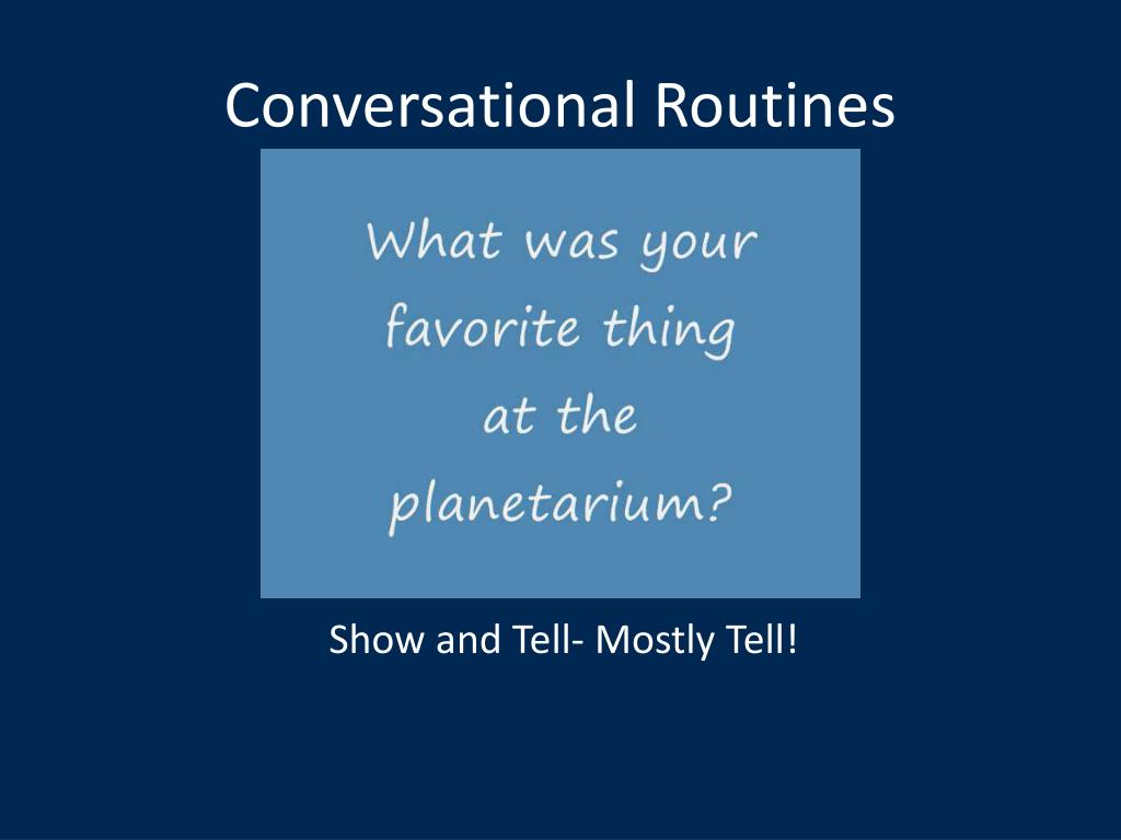 Conversational Routines