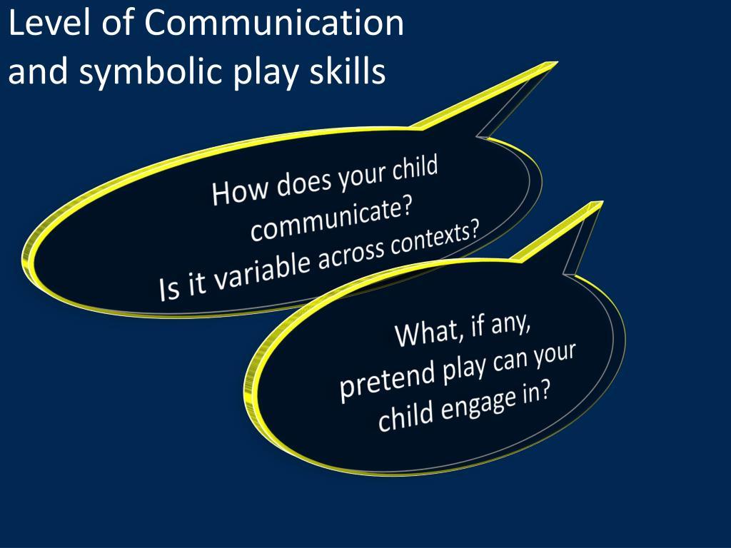 Level of Communication